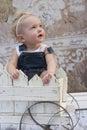 Toddler girl gazing Royalty Free Stock Photo
