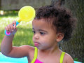 Toddler Girl in Pool Stock Photography