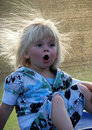 Toddler girl is surprised Stock Image