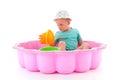 Toddler girl in swimming pool Royalty Free Stock Photo