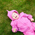 Toddler on grass Stock Images