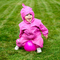 Toddler on grass Stock Photography