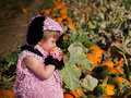 Toddler in Halloween Costume Royalty Free Stock Images