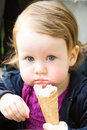 Toddler with icecream Royalty Free Stock Photography