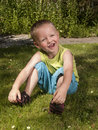 Toddler is laughing Royalty Free Stock Photo