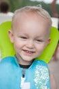Toddler in Lifejacket Royalty Free Stock Photo