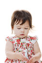 Toddler & mobilephone Royalty Free Stock Photo
