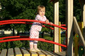 Toddler on playground Royalty Free Stock Images