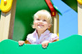 Toddler on playground girl the Royalty Free Stock Photography