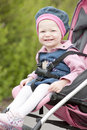 Toddler in a pram Stock Photography