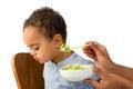 Toddler refusing to eat Royalty Free Stock Photo