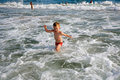 Toddler in the sea Royalty Free Stock Image