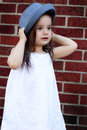 Toddler in Silly Hat Royalty Free Stock Photo
