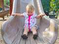 Toddler on Slide Royalty Free Stock Photo