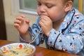 Toddler soup Stock Photos