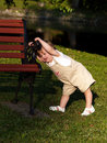 Toddler Stretch Royalty Free Stock Photo