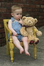 Toddler and Teddy Royalty Free Stock Photos