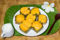 Toddy palm cake dessert Royaltyfri Foto