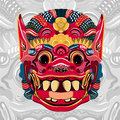 Todsakan face which is the demon king in Thai Khon. Vector