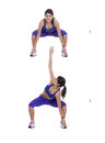Toe touch squat Royalty Free Stock Photo