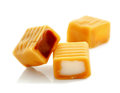 Toffee caramel candy isolated on white background Royalty Free Stock Photo