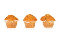Toffee fudge muffins over white background Stock Photos