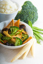 Tofu beancurd and vegetables Stock Photography