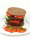 Tofu burger vegan meal for all health conscious Stock Photography