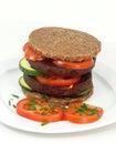 Tofu burger vegan meal for all health conscious Royalty Free Stock Photos