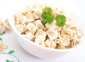Tofu noodles some vegetarian in a bowl Stock Images