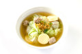 Tofu soup with pork vegetables and Stock Images