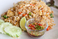Tofu and vegetable fried rice,Thai menu Stock Photography
