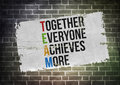 Together everyone achieves more poster concept Stock Image