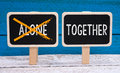 Together not alone Royalty Free Stock Photo