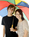Together Under the Umbrella Royalty Free Stock Photography