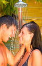 Togetherness spa couple Stock Image