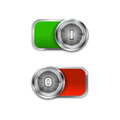 Toggle switch on and off position on off sliders vector illustration Stock Photo