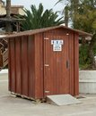 Toilet aseos outside in spain for summer use only Royalty Free Stock Images