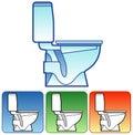 Toilet bowl color Stock Images