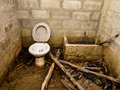 Toilet the broken dirty and odore Royalty Free Stock Image