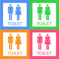 Toilet color icons set great for any use. Vector EPS10.