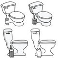 Toilet Commode Set Royalty Free Stock Photos