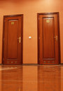 Toilet doors Stock Photo
