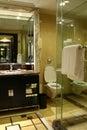 Toilet in luxury hotel room washroom Stock Photos