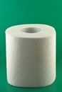 Toilet paper on green background the hygiene concept Royalty Free Stock Photography