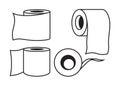 Toilet paper icon Royalty Free Stock Photo