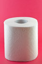 Toilet paper on pink background the hygiene concept Stock Images