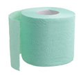 Toilet paper soft on a white background isolation Stock Photography