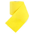 Toilet paper yellow with perforation Stock Image