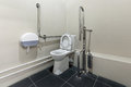 Toilet public in sochi russia equipped for people with disabilities Royalty Free Stock Photo